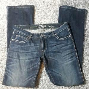 Rock 47 Ultra Low Rise Boot Cut Wrangler Jeans